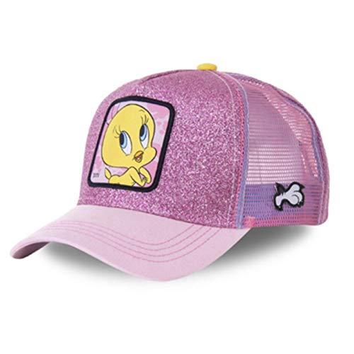 MLOPPTE Sombrero,Gorra de béisbol de algodón de Pato de Dibujos Animados de Anime para Hombres y Mujeres, Gorra de Malla de Hip Hop, Gorra de Camionero TITIPINK