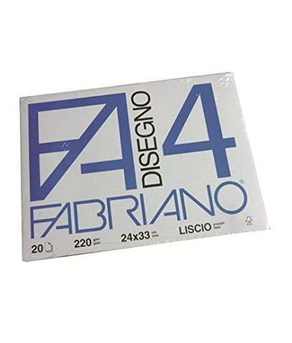Fabriano 009056 Cartella Fabriano F4, Liscio, 20 Fogli, 24 x 33 cm