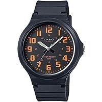 Casio Reloj Analógico para Hombre de Cuarzo con Correa en Plástico MW-240-4BVEF