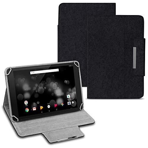 Tablet Hülle kmpatibel für Amazon Fire HD 10 / Plus Tasche Cover Filz Hülle Schutzhülle Filztasche, Farben:Schwarz