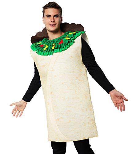 EraSpooky Disfraz de Taco de Comida Mexicana para Adultos Disfraces Fiesta de Halloween Traje Divertido para Hombres