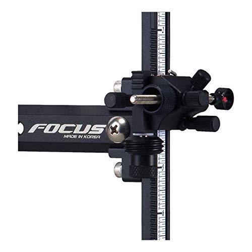 Cartel - Visor Focus K-Sight con ajustes micrométricos para Todo Tipo de Arco clásico - Preciso y fiable - Ambidextro (Droiter/Zurdos)