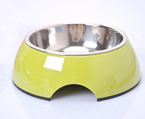 Mangeoire Pet petons rayures pour chiens et chats Medium vert