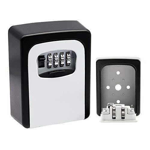 Tuff4ever Schlüsseltresor mit 4-stelligem zahlencode, Schlüsselsafe Schlüsselbox Keygarage Wetterfest für Haus Garage Airbnb