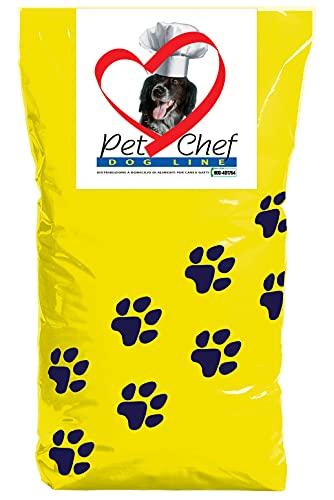 PET CHEF Crocchette cani adulti, Cibo secco per cani di taglia Medium, Large e Maxi ad Alta Digeribilità. Croccantini al gusto Pollo, 100% Made in Italy. Sacco da 10 kg.