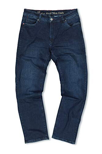JP 1880 Herren große Größen bis 70, Jeans, 5-Pocket FLEXNAMIC®, super-elastischer Denim, Gerade geschnittenes Bein, schmalere Fußweite, darkblue 62 722849 93-62