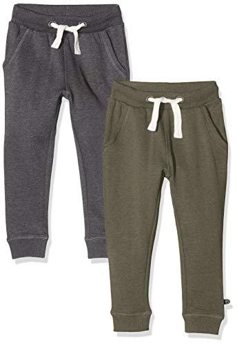 MINYMO Jungen 2er Pack Sweat Pants/Freizeithose Hose, Mehrfarbig (Beetle/Grau 978), (Herstellergröße:152)