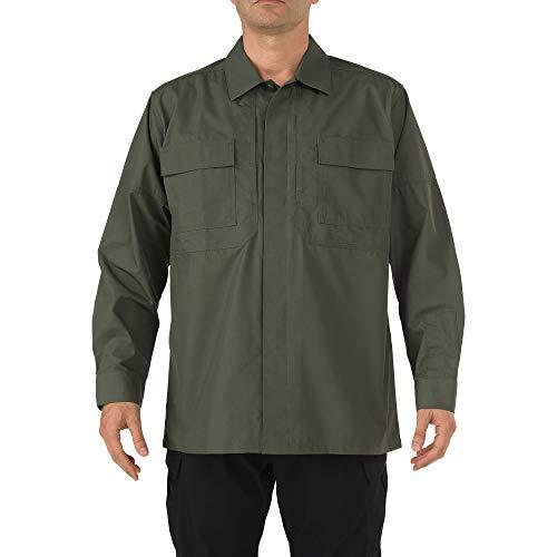 5.11 Tactical # 72002 Ripstop TDU Manches Longues pour Homme Petit Vert TDU