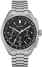 Bulova Archive Series Men's Watch, Stainless Steel Lunar Pilot Chronograph, Silver-Tone (Model: 96B258)