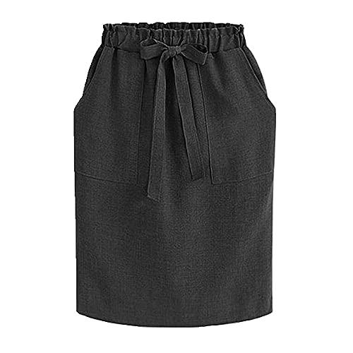Faldas de Verano de Primavera para Mujer Falda de la Cintura