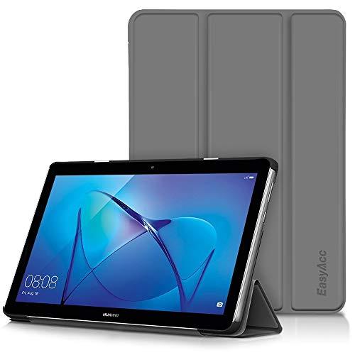 EasyAcc Hülle für Huawei Mediapad T3 10 Hülle, Ultra Schlank Schutzhülle Hülle mit Zwei Einstellbarem Standfunktion Für Huawei MediaPad T3 10 (9,6 Zoll), Grau