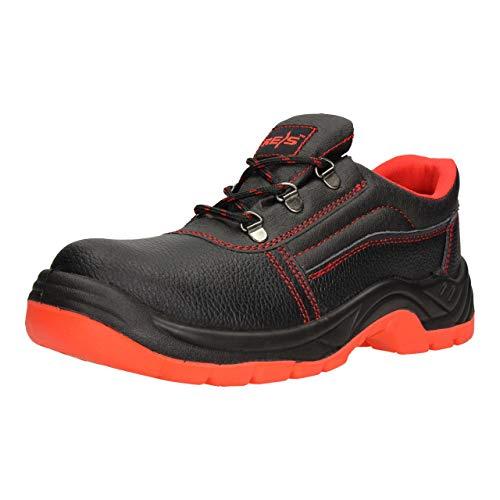 FUZZIO - Zapatos de Seguridad con Cordones para Hombre, Color Rojo, Talla 47 EU