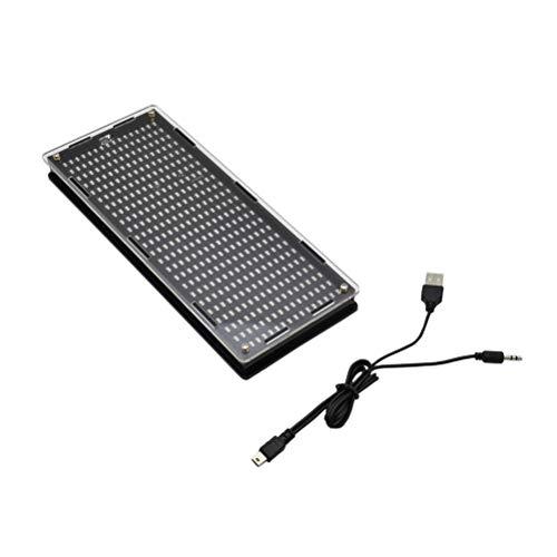 Hemobllo Musikspektrumanalysator Audio-Spektrumanalysator DIY-Kit LED-Digitalanzeige-Pegelanzeige
