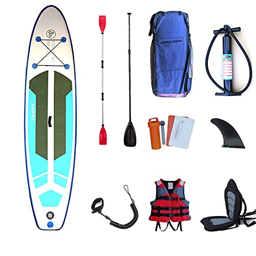 XJZKA Stand Up Sup Paddle Board Inflable, Paddle Ajustable Carry, Carry Mochila Dual, Tobillo Leash Leash Leash Adecuado para Todas Las Habilidades Ideal, Q