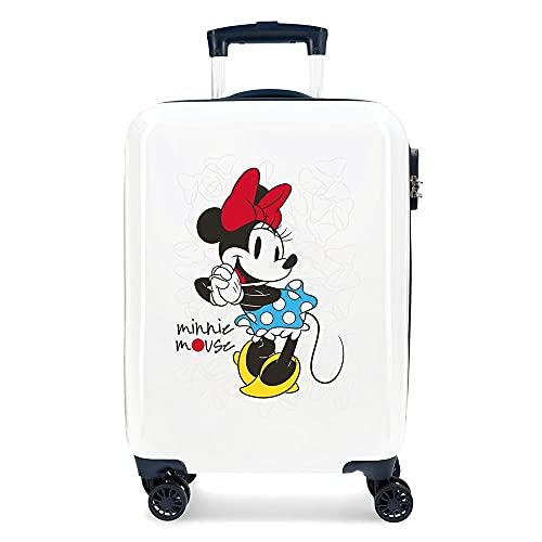 Disney Minnie Magic Trolley cabina Bianco 37x55x20 cms Rigida ABS Chiusura a combinazione numerica 33L 2,8Kgs 4 doppie ruote Bagaglio a mano
