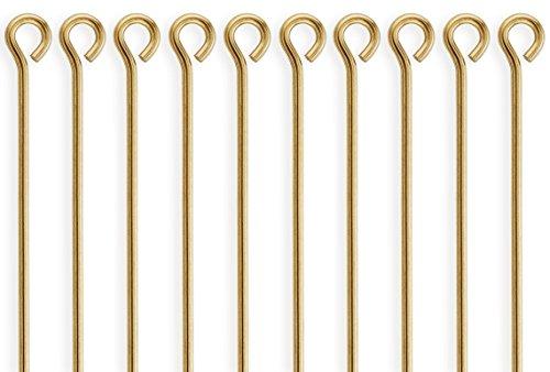 50 Pieces 14Kt Gold Filled Eye Pins 22 Gauge 1 inch