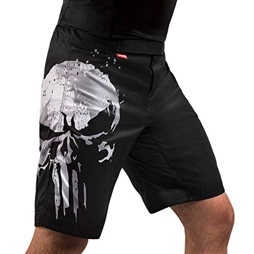 Hayabusa Marvel The Punisher MMA Fight Shorts - Black, XX-Large