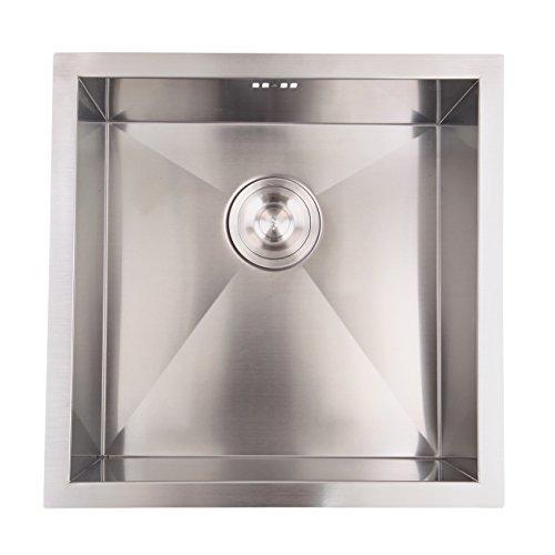 XuanYue Lavello Da Cucina In Acciaio Inossidabile Lavandino Quadrato Lavello da cucina 45 x 45 cm