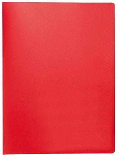 Q-Connect KF01250 Sichtbuch - 20 Hüllen, Einband PP, 450 mym, rot