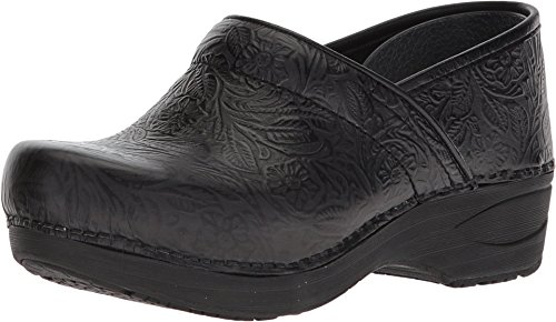 Dansko Women's XP 2.0 Black Floral Tooled Clogs 8.5-9 M US
