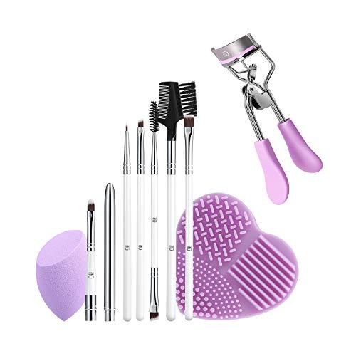T4B ILU Purple Pick Up Line 9 Pcs Set Pinceaux De Maquillage Avec 1 Eponge 1 Nettoyeur Pour Pinceaux Et 1 Recourbe Cils