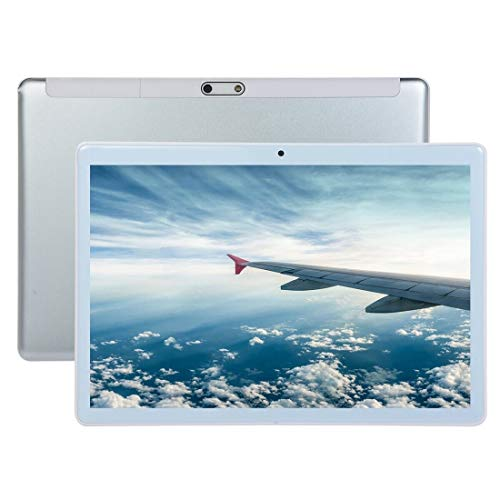 10.1 Zoll Android Tablet PC, 3G-Telefon-Anruf-Tablet-PC, 10,1 Zoll, 1 GB + 16 GB, 2.5D Gebogene Schirm Android 4.4 A7 Quad-Core 1,3 GHz, Unterstützung Dual-SIM etc. (Color : Silver)