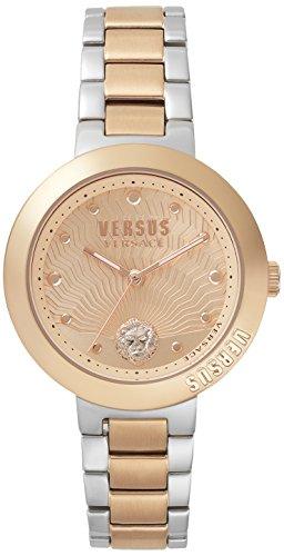 Versus by Versace Damen Analog Quarz Uhr mit Edelstahl Armband VSP370617