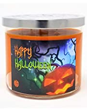 Happy Halloween 3 Wick Scented Soy Wax 12oz, 14.5oz, and 16oz Candles ~ 75 to 100 Hour Burn Time ~ Aromatherapy Soy Candles ~ Non-Toxic ~ Made in USA