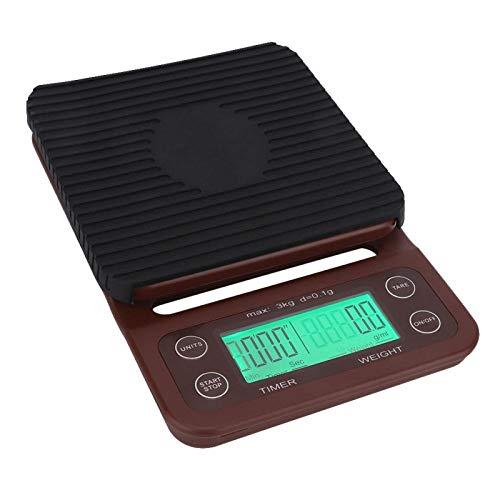 Báscula para alimentos de alta precisión Báscula de cocina para café Báscula electrónica Báscula de cocina digital portátil con pantalla LED Básculas electrónicas para pesaje de alimentos para la coci