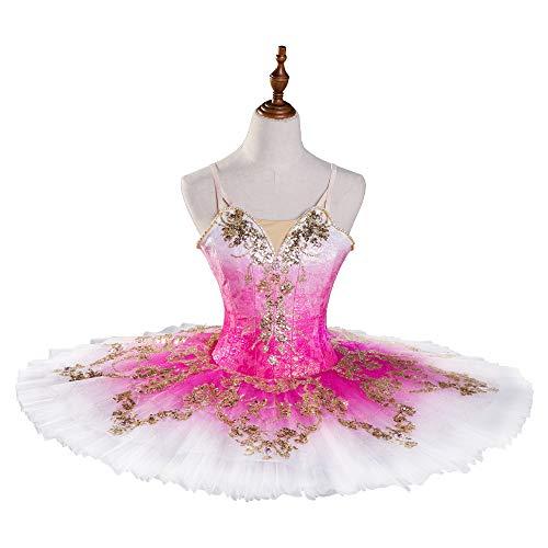 N-A Estilo Clásico Falda de Ballet Bailarina Traje Falda TUTU Falda de Tutu de Danza Repertorio Traje Pettifalda