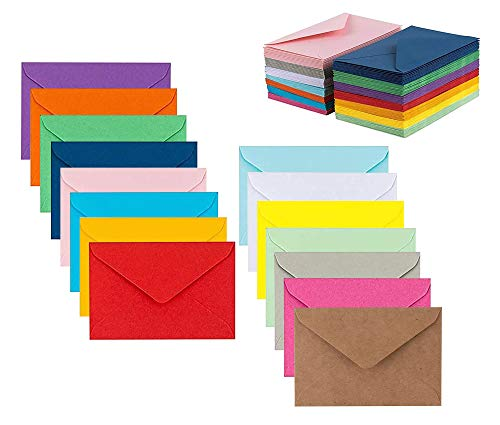 """Colorful Envelopes 5"""" x 7"""" Assorted Colors 105 Pack Envelopes for Invitations, Birthday, Graduation, Baby Shower, Greeting Card"""