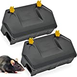 Rat Bait Station 2 Pack - Rodent Bait Station with Key Eliminates Rats Fast. Keeps Children and Pets...