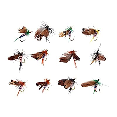 Beito 12Pcs Fly Fishing Dry Flies Lure Hooks Artificial Butterfly from Beito