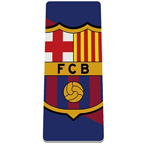 Eslifey - Esterilla de yoga con emblema de Fo Barcelona, gruesa, antideslizante, para mujeres y niñas, alfombrilla de ejercicio suave para pilates (182 x 81 cm, 1/3 pulgadas de grosor)