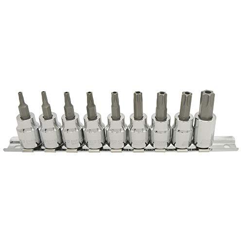 PWT 3/8インチ(9.5mm) いじり止め対応 トルクスビットソケットセット ヘックスローブビットソケット T15,T20,T25,T27,T30,T40,T45,T50,T55 IBS38TTSET