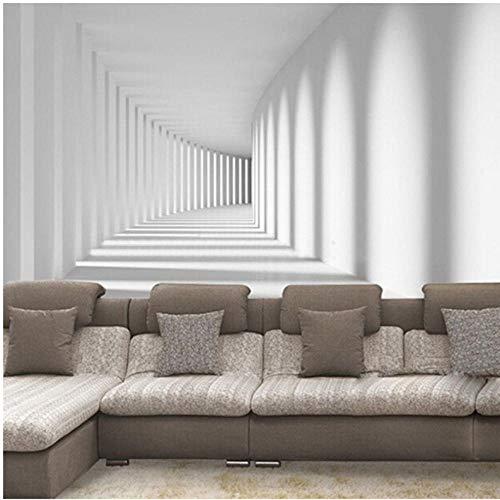 Wuyii aangepaste abstract artistiek 3D fotobehang ruimte gang wandschilderij kantoor woonkamer sofa achtergrond houtvezel behangrol 250 x 175 cm.