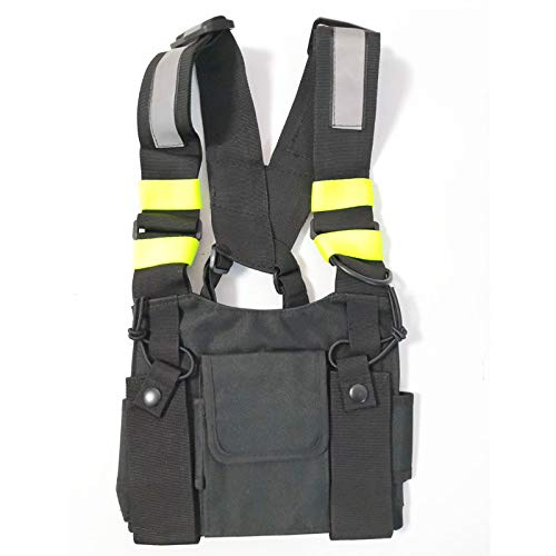 radtel Front Pack Pouch Holster Vest Rig Chest Bag Carry Case for Baofeng Two Way Radio UV-5R BF-F8HP UV-82 TYT Motorola Midland