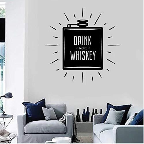 MUXIAND muur PVC, Drink meer whisky 57x57cm Home Decors Muurstickers Quote Decal Keuken Kamer Deur DIY PVC Family Sticker Gift Transfers Accessoires Festival Verjaardag