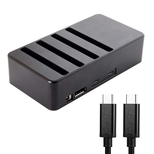 USB4 Thunderbolt 3 à 4 SATA 6 Gbps HDD SSD Disque dur Disque dur Raquette de Conversion Cartouche