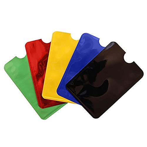 99native Schutzhülle,5 Stück RFID & NFC Blocker Kartenhüllen Schutz Diebstahlsicherung Brieftasche Abdeckung Kartenhalter Kreditkartenhülle für Kreditkarten, EC Karten, Personalausweis (Mehrfarbig)
