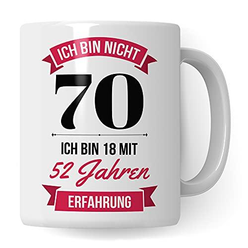 70. Geburtstag Frauen Tasse - Deko Geschenk 70 Geburtstag Frau - Becher 70 Jahre alt Spruch Kaffeebecher 1951 Jahrgang Geschenkidee - Kaffeetasse Geburtstagsgeschenk 2021