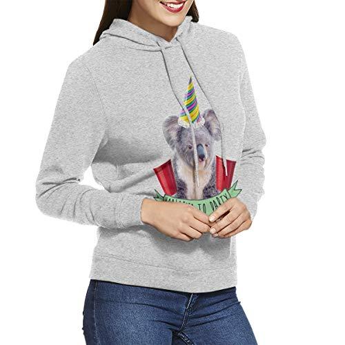 BaPaLa Koalafied to Party Women's Hooded Sweatshirts Casual Sweatshirts Long Seleeve Pullover