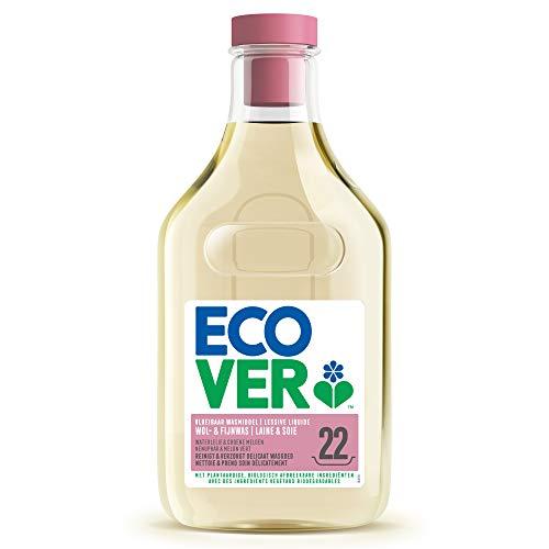 Ecover Lessive Laine Et Linge Délicat Parfum Lavande | Origine Naturelle Pour Un Linge Propre Éco Responsable | Certifié Biologique Ecocert | 1L - 22 Lavages