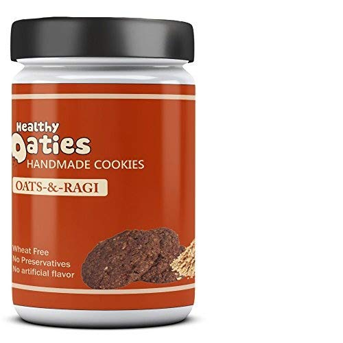 Healthy Oaties Fresh Soft Baked Ragi Cookies - High in Protein, Non GMO, No Wheat Flour, No Refined Sugars - Oats and Ragi(270gms)