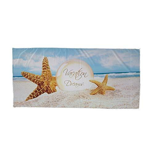 Surwin Toalla de Playa Grande, Microfibra Paisaje Impresión Secado Rápido Toalla de Piscina Toalla de Arena Antiadherente para Verano Playa, Yoga, Picnic, Hotel (Estrella de mar,75x150cm)