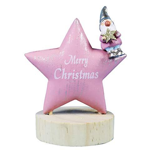 Nargar Desktop Christmas Ornaments Swedish Gnome Wooden Star Scandinavian Tomte Gnomes Christmas Decorations