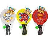 Globo Raquetas de playa de madera, venta por pares, colores aleatorios