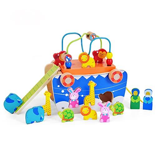 Juguete educativo de madera para bebé, desarrolla habilidades motoras para niños y niñas de 1, 2 y 3 años.
