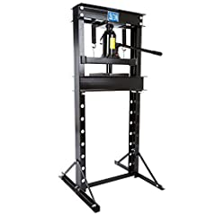 """Use this press for at-home mechanics or your small repair business Measures 27.5"""" L x 26.75"""" W x 57.25"""" H; maximum 20 ton capacity; horizontal-slide ram extends from 2.75"""" - 10"""" Can be used with included manual hand pump Ram extends 2.75"""" - 10"""" from ..."""