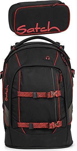 Satch Pack Black Volcano 2er Set Schulrucksack & Schlamperbox